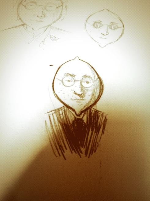 A rough sketch of John Lemon.